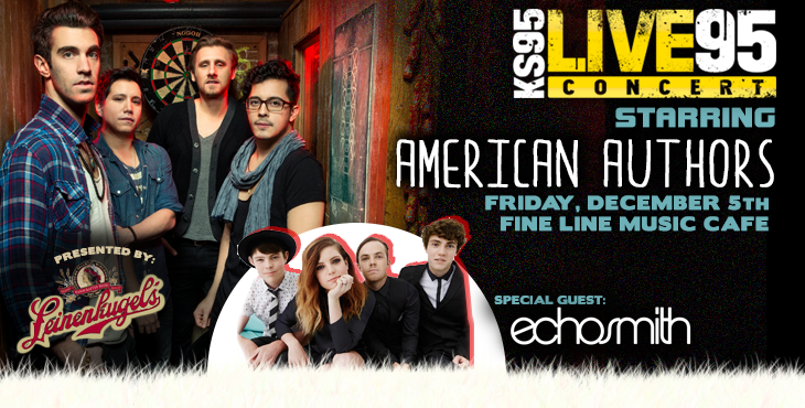 Pair of tickets to KS95's Live 95 starring American Authors