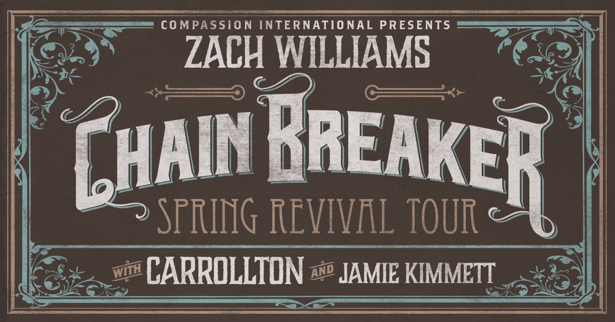 Zach williams chain breaker spring revival tour vip ticket enter for a chance to win 4 vip tickets plus meet greet plus an awesome zach williams prize pack sciox Images