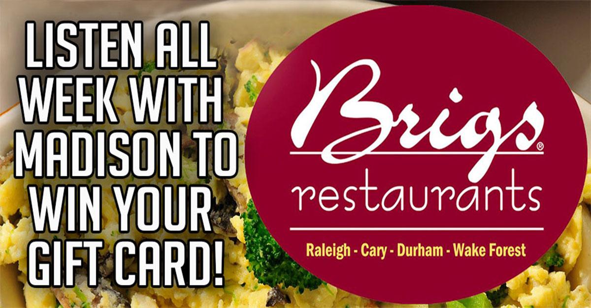 Brigs Restaurants Gift Cards 96 1 Bbb