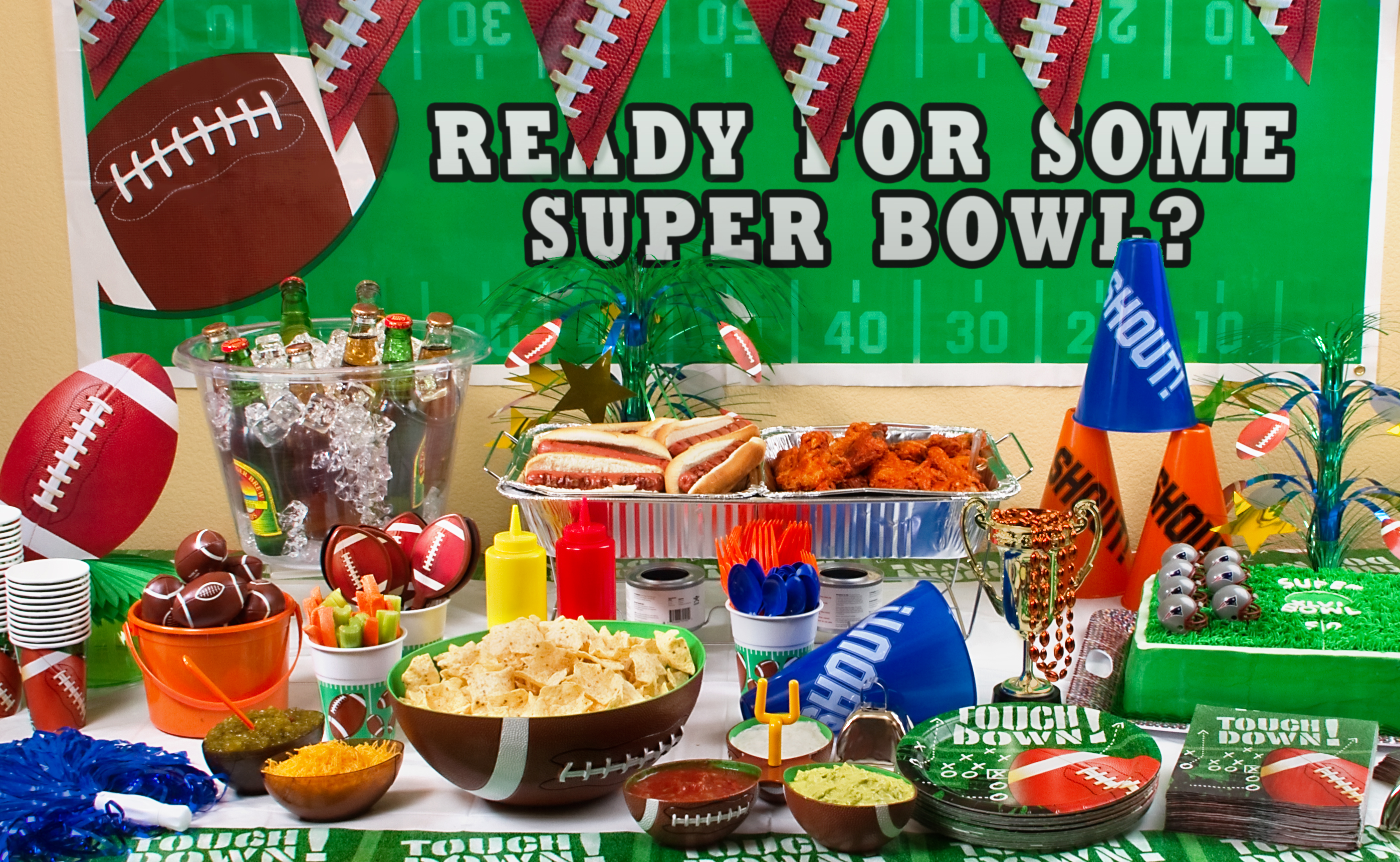 Super bowl party decorating ideas images for Super bowl party items