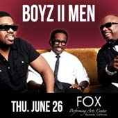 Boyz II Men at the Fox Performing Arts Center (6/26)