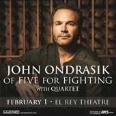 John Ondrasik of Five For Fighting at El Rey Theatre (2/1/15)